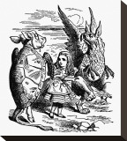 Alice's Adventure's in Wonderland Stretched Canvas Print by John Tenniel
