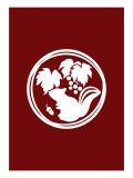 Family Crest Style Burgundy Giclee Print by Ikuko Kowada