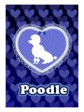 Poodle Blue Giclee Print by Ikuko Kowada