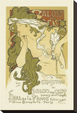 Salon Des Cent, Hall De La Plume Stretched Canvas Print by Alphonse Mucha