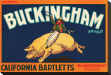 Buckingham Brand California Bartletts Stretched Canvas Print