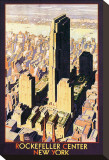 Rockefeller Center, New York Stretched Canvas Print by Leslie Ragan