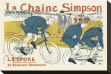 The Simpson Bicycle Chain Stretched Canvas Print by Henri de Toulouse-Lautrec