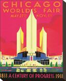 Chicago World's Fair Stretched Canvas Print