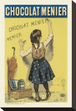 Chocolat Menier Stretched Canvas Print by Firmin Etienne Bouisset