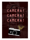 Camera Red Giclee Print by Ikuko Kowada