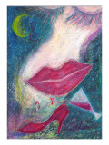 Let&#39;s Go to a Party at Night When the Crescent Shines Giclee Print by Mariko Miyake