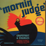 Mornin Judge Grapefruit and Oranges Reproduction transf&#233;r&#233;e sur toile