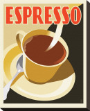 Deco Espresso II Stretched Canvas Print by Richard Weiss