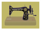 Sewing Machine in Yellow Giclee Print by Ikuko Kowada