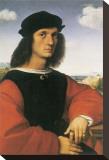 Portrait of Agnolo Doni Reproduction transférée sur toile par  Raphael
