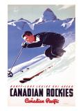Banff-Lake Louise Ski Areas, Canadian Rockies Premium Giclee Print