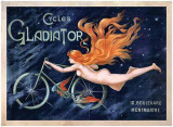 Cycles Gladiator Tin Sign