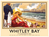 Whitley Bay Cartel de chapa