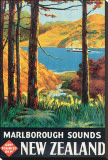 Marlborough Sounds, New Zealand Stretched Canvas Print by L. C. Mitchell