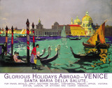 Glorious Holidays Abroad Venice Tin Sign