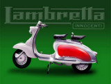Lambretta Innocent Tin Sign