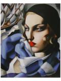 Echarpe Bleue Giclée-Premiumdruck von Tamara de Lempicka