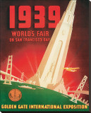 1939 Worlds Fair on San Francisco Bay Stretched Canvas Print