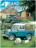 Land Rover Tin Sign by Trever Mitchell