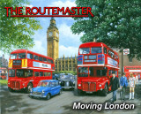 Routemaster - Moving London Emaille bord van Kevin Walsh