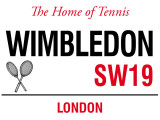 Wimbledon Blikskilt