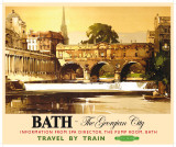 Bath Tin Sign