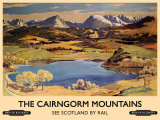 The Cairngorm Mountains Tin Sign