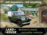 Land Rover Tin Sign by Kevin Walsh