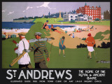 St Andrews (black) Tin Sign