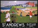 St Andrews (black) Tin Sign