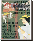 Western Lawn Tennis Tournament Stretched Canvas Print by Edward Penfield