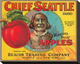 Chief Seattle Brand Wenatchee Valley Apples Stretched Canvas Print