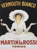 Martini Vermouth Bianco Plakietka emaliowana