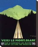 Vers Le Mont Blanc Stretched Canvas Print by Georges Dorival