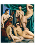 Le Rythme Giclée-Premiumdruck von Tamara de Lempicka