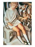 Kizette au Balcon Premium Giclee Print by Tamara de Lempicka