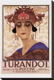Puccini, Turandot Stretched Canvas Print