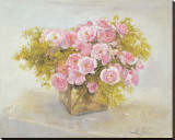 Roses Reproduction transf&#233;r&#233;e sur toile par Arthur Easton