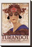 Puccini, Turandot Stretched Canvas Print