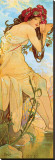 Eté Reproduction transférée sur toile par Alphonse Mucha