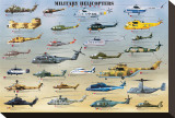 Military Helicopters Stretched Canvas Print