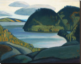 Coldwell Bay, North of Lake Superior Stretched Canvas Print by Lawren S. Harris
