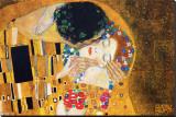 Kysset, ca. 1907 (detalj) Trykk på strukket lerret av Gustav Klimt