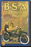 B.S.A. Motor Bicycles Stretched Canvas Print