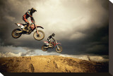 Motocross: Big Air Stretched Canvas Print