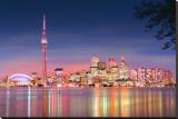 Toronto Skyline at Night Stretched Canvas Print