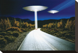Ufo Invasion Stretched Canvas Print
