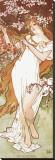 Primavera Reproducción en lienzo de la lámina por Alphonse Mucha