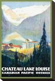 Canadian Pacific, Chateau Lake Louise Stretched Canvas Print